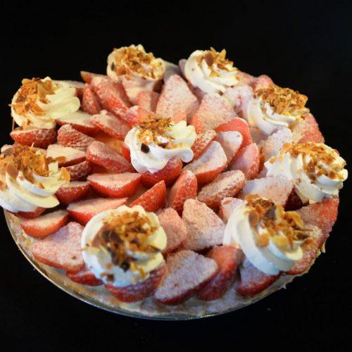 tarte aux fraise anniversaire pâtisserie ferme de Berdin Banos