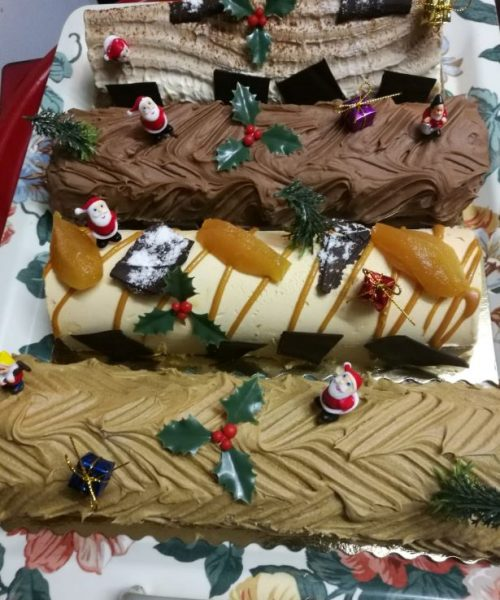 les bûches de Noël ferme de Berdin Banos